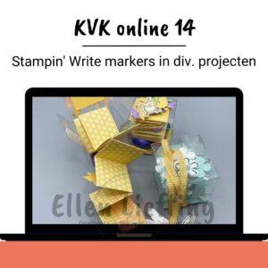 Stampin Write markers in diverse projecten verwerkt