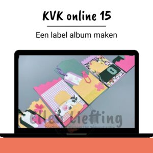 Een labelalbum zelf maken, versieren en afwerken in deze online les van Ellen Liefting
