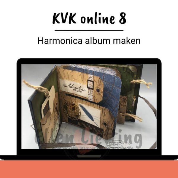 Harmonica album maken met producten van Stampinup door Ellen Liefting