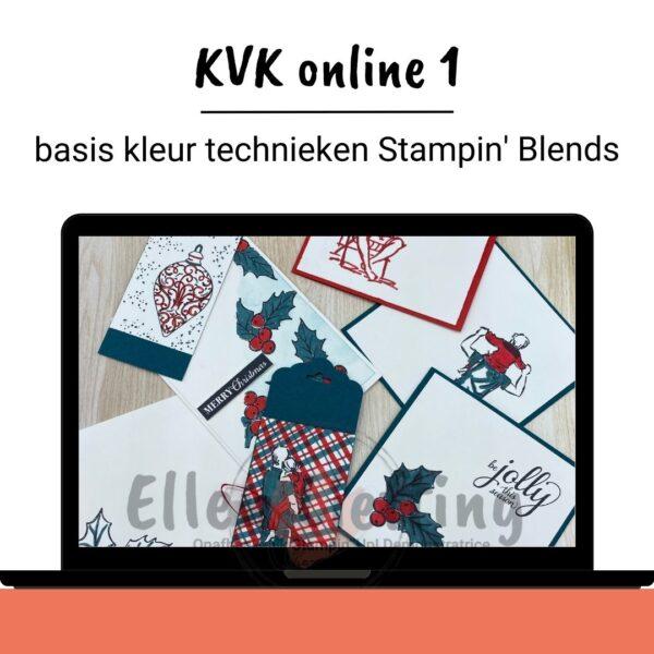 online workshop kleuren met Stampin' Blends van Ellen Liefting
