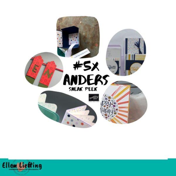 #5xAnders creatieve inspiratie bundel met de producten van Stampin' Up! door o.a. Ellen Liefting