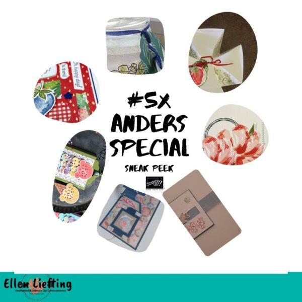 Maskeertechnieken en andere projecten in deze #5xAnders special met producten van Stampin' Up! van bij Ellen