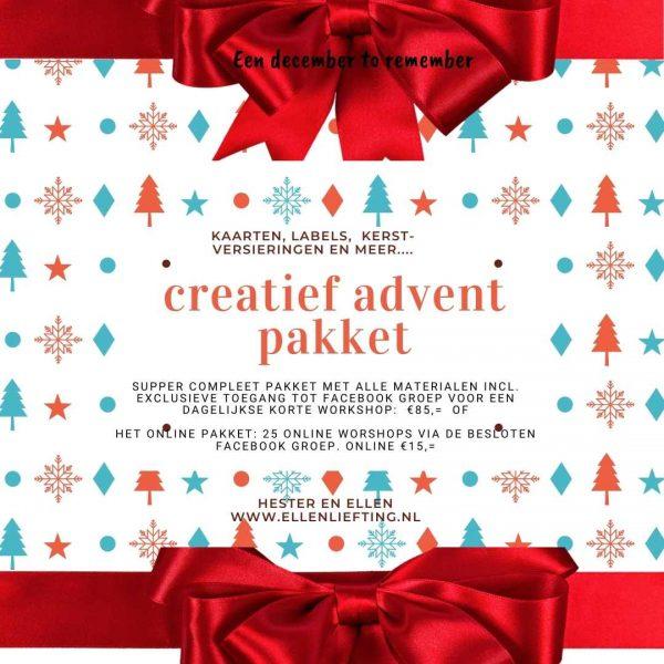 creatief advent pakket van bij ellen