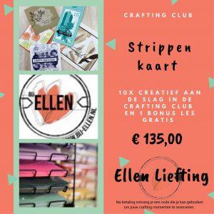 Strippenkaart Crafting club bij Ellen
