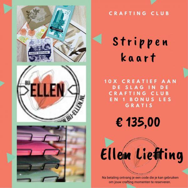 strippenkaart craftingclub bij Ellen